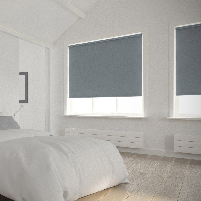 Store enrouleur occultant 5785 INSPIRE gris galet n°3 90x250 cm