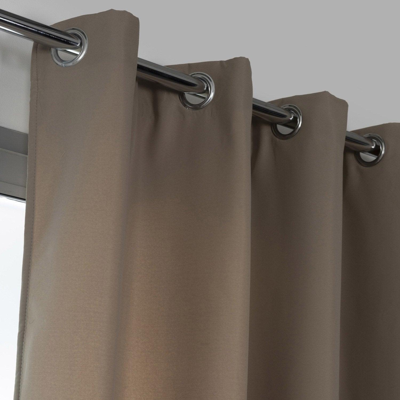 rideau obscurcissant stop froid plus gris dor n 5 x cm leroy merlin. Black Bedroom Furniture Sets. Home Design Ideas