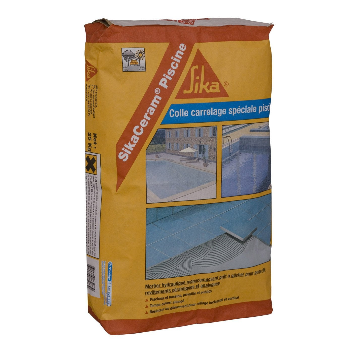 Mortier colle sika 25 kg leroy merlin for Quelle colle pour carrelage exterieur