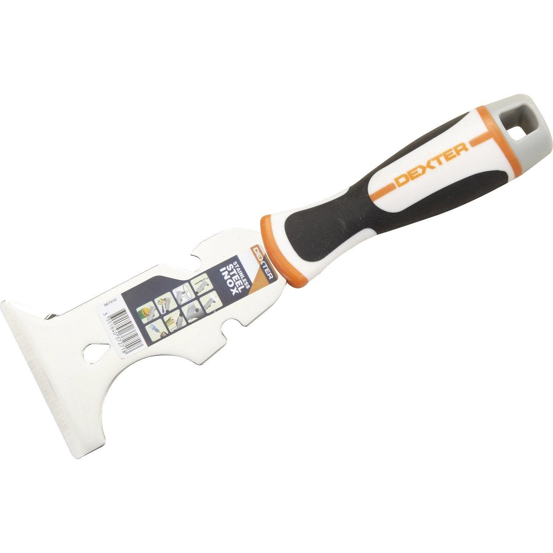 Couteau de plaquiste et embout vis 8 en 1 dexter 76 mm leroy merlin - Couteau a enduire leroy merlin ...