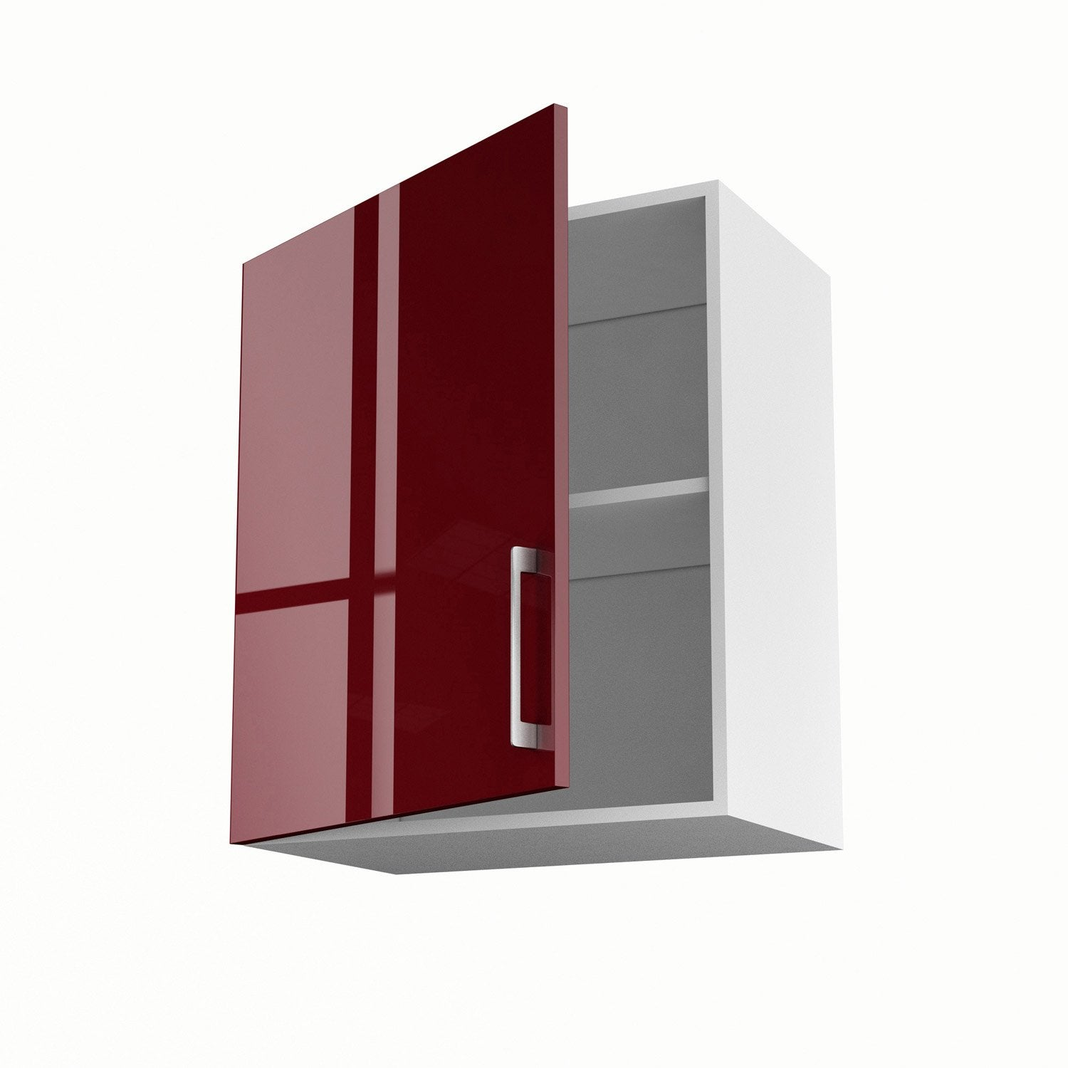 meuble de cuisine haut rouge 1 porte griotte x x. Black Bedroom Furniture Sets. Home Design Ideas