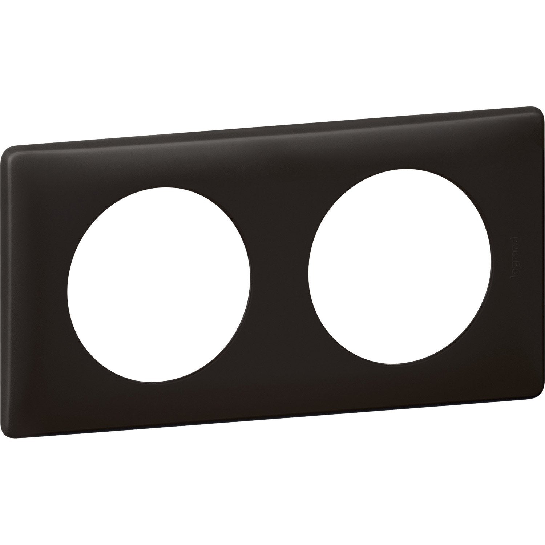 plaque double c liane legrand basalte leroy merlin. Black Bedroom Furniture Sets. Home Design Ideas