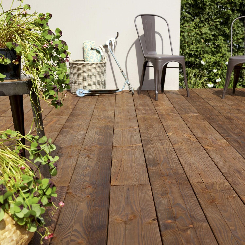 Planche douglas en bois marron naterial l 300 x l 17 5 cm x ep 33 mm leroy merlin - Planche en bois leroy merlin ...