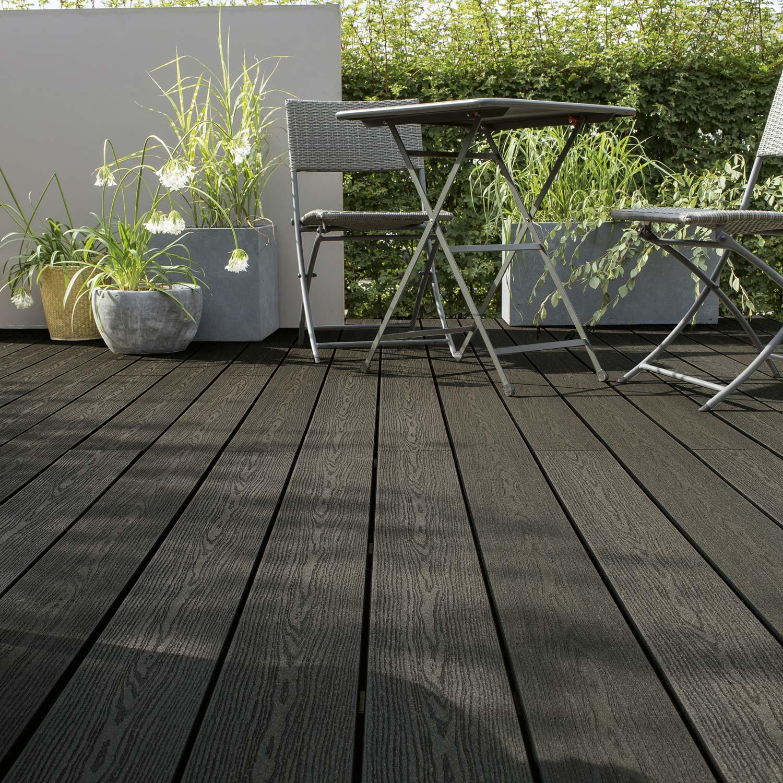 Planche posite Terrasse premium gris anthracite L 300