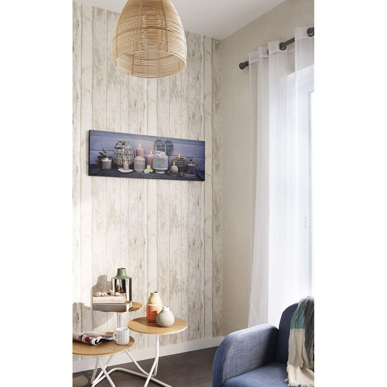 Papier peint intiss rustik wood lin leroy merlin - Bache wood leroy merlin ...