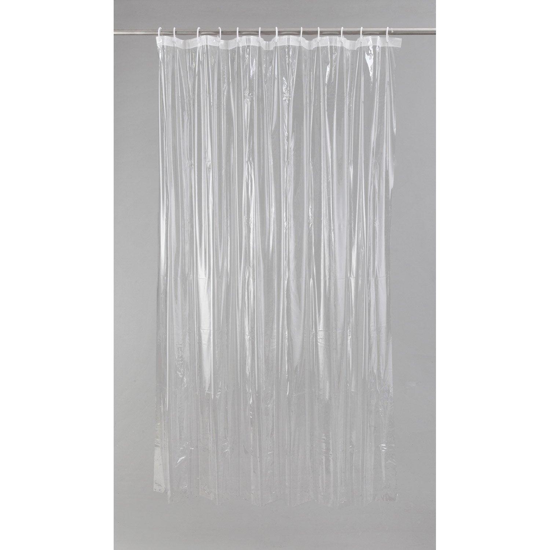 rideau de douche en plastique transparent x cm clear sensea leroy merlin. Black Bedroom Furniture Sets. Home Design Ideas