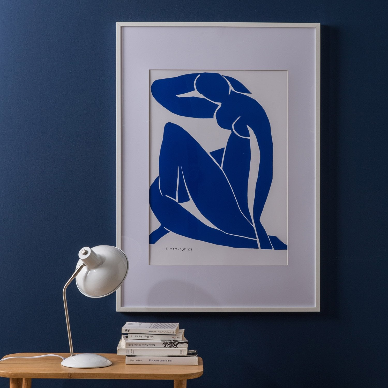 cadre milo 40 x 50 cm blanc leroy merlin. Black Bedroom Furniture Sets. Home Design Ideas