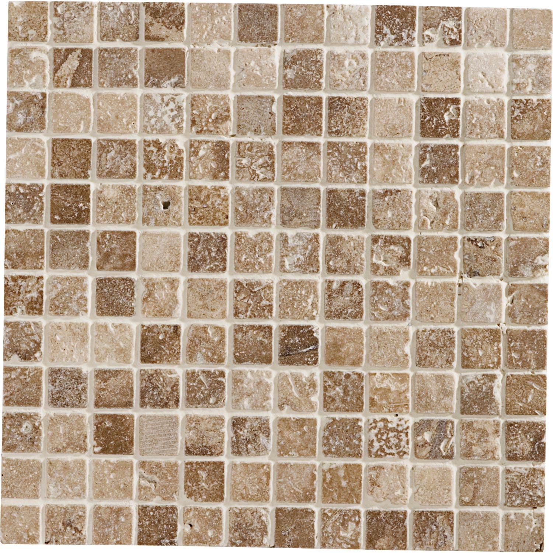 Mosa que sol et mur mineral moka 2 3 x 2 3 cm leroy merlin for Sol mosaique salle de bain