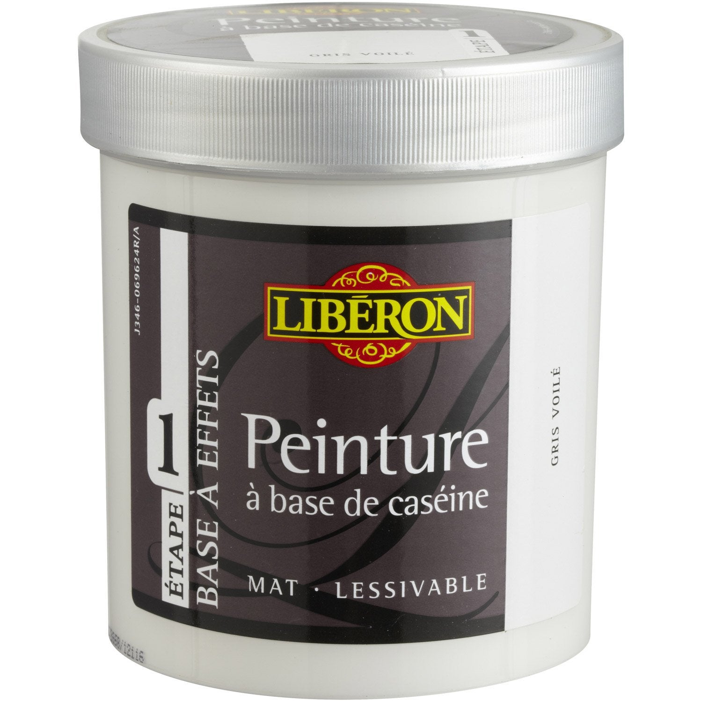 Peinture effet base cas ine mat profond liberon gris voil 0 5 l leroy merlin for Peinture v nuancier