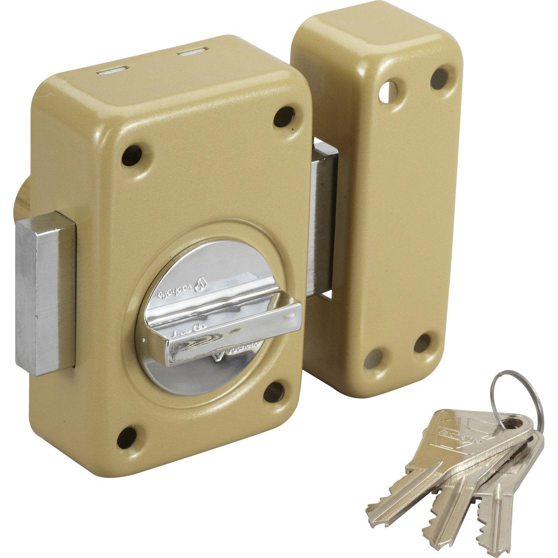 Verrou bouton cylindre 45 mm vachette v5 leroy merlin - Verrou leroy merlin ...