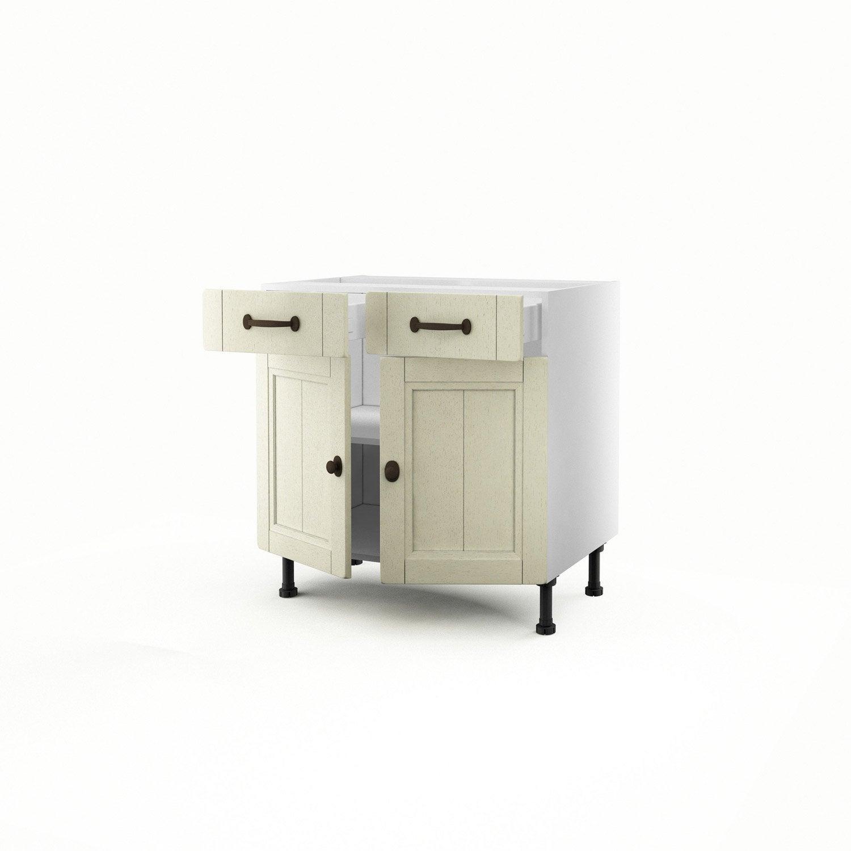 Meuble Bas Cuisine 2 Portes 2 Tiroirs Maison Design