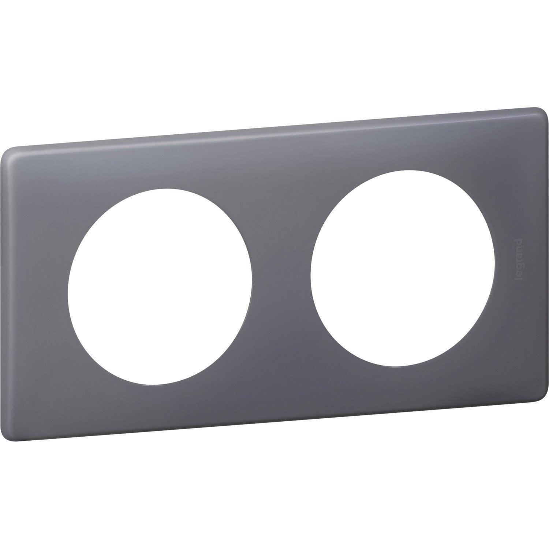 plaque double c liane legrand schiste leroy merlin. Black Bedroom Furniture Sets. Home Design Ideas