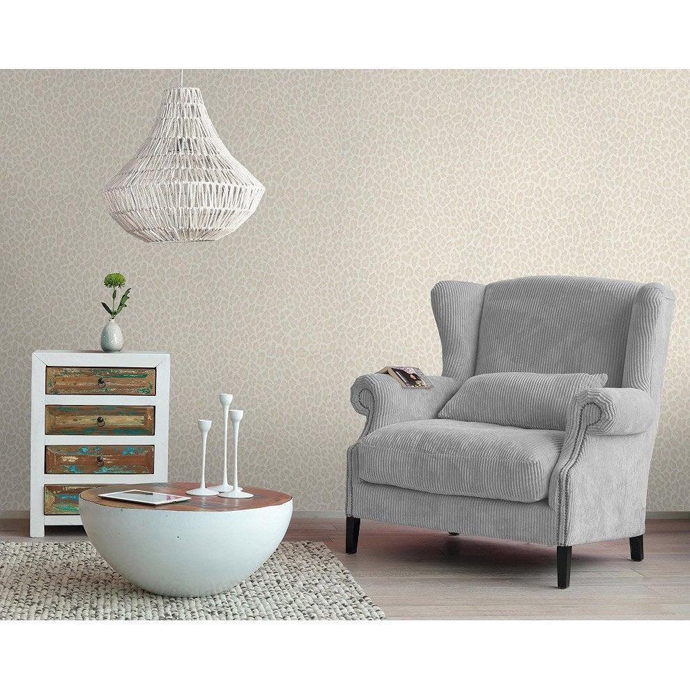 papier peint intiss leopard beige leroy merlin. Black Bedroom Furniture Sets. Home Design Ideas