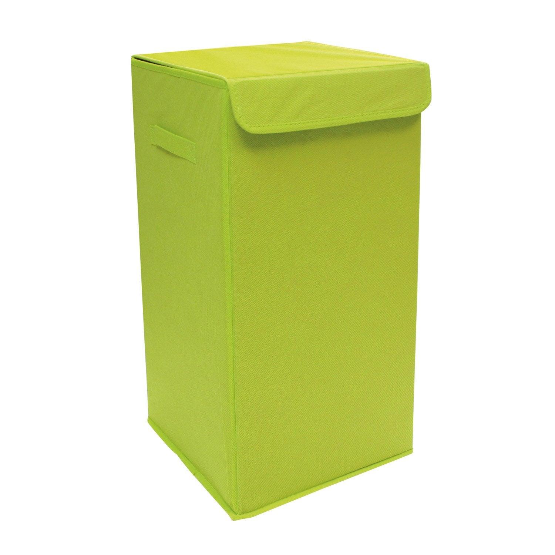 panier linge pliable jaune x x cm leroy merlin. Black Bedroom Furniture Sets. Home Design Ideas