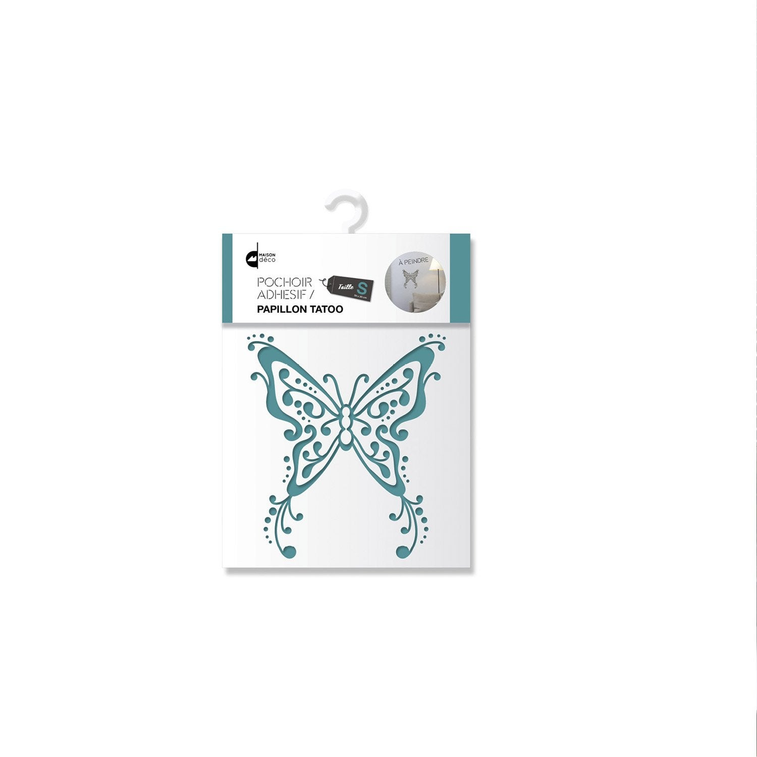 pochoir s papillon tatoo maison deco leroy merlin