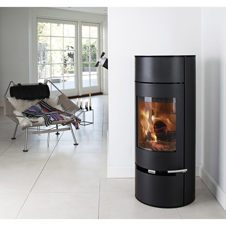 po le bois aduro 9 2 noir 6kw leroy merlin. Black Bedroom Furniture Sets. Home Design Ideas