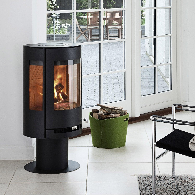 po le bois aduro 9 3 noir 6kw leroy merlin. Black Bedroom Furniture Sets. Home Design Ideas