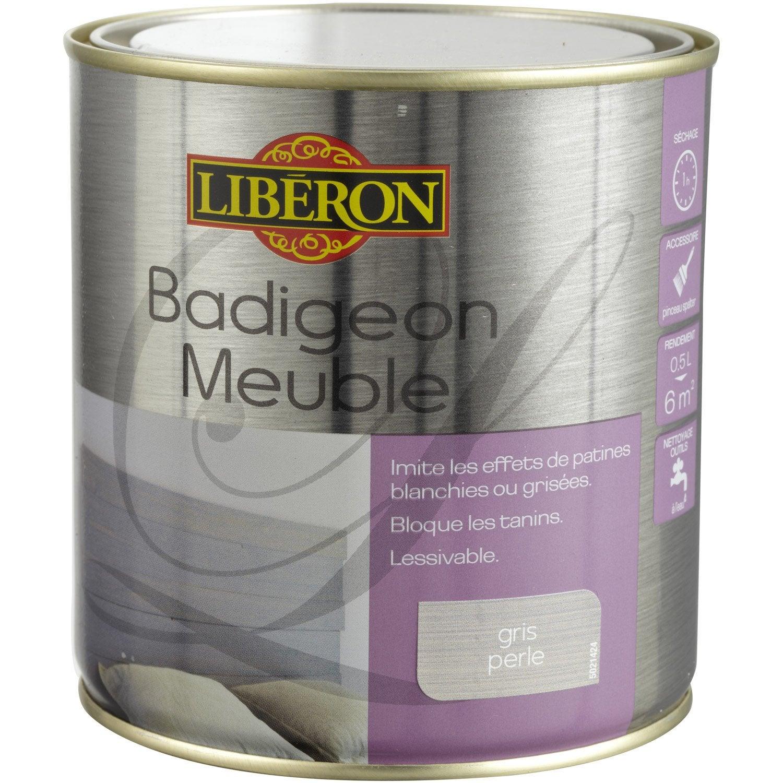 Lasure mat liberon badigeon meuble gris perle 0 5 l - Meuble repeint en gris perle ...