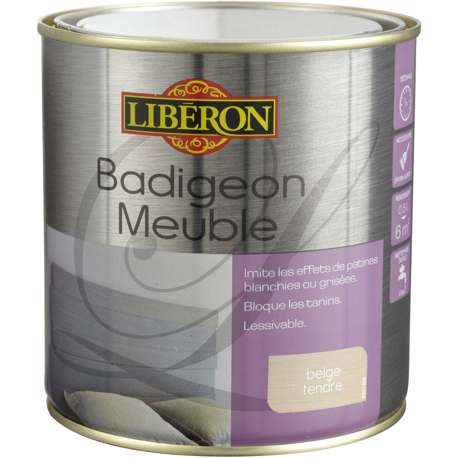 Lasure badigeon meuble liberon beige tendre 0 5 l for Liberon badigeon meuble