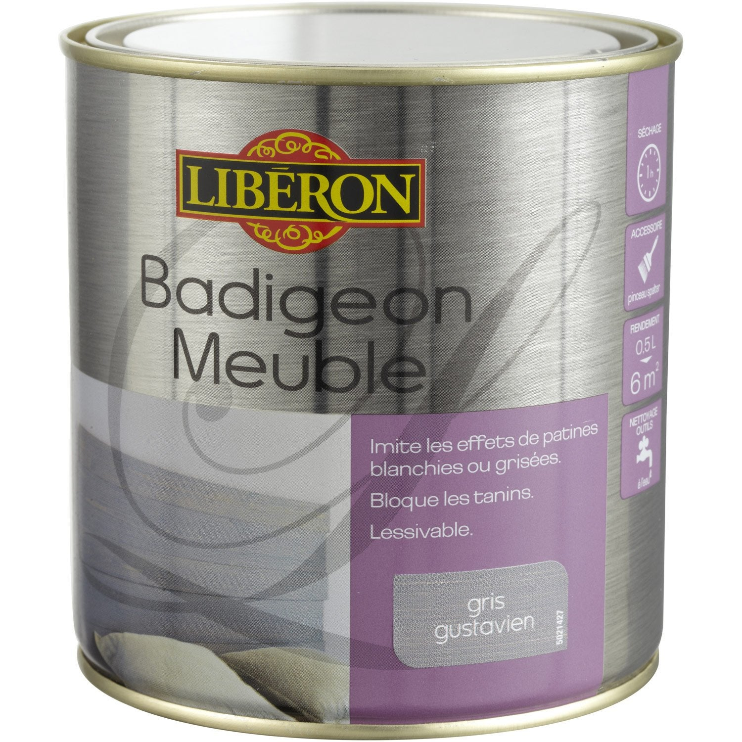 Lasure mat liberon badigeon meuble gris gustavien 0 5 for Lasurer un meuble