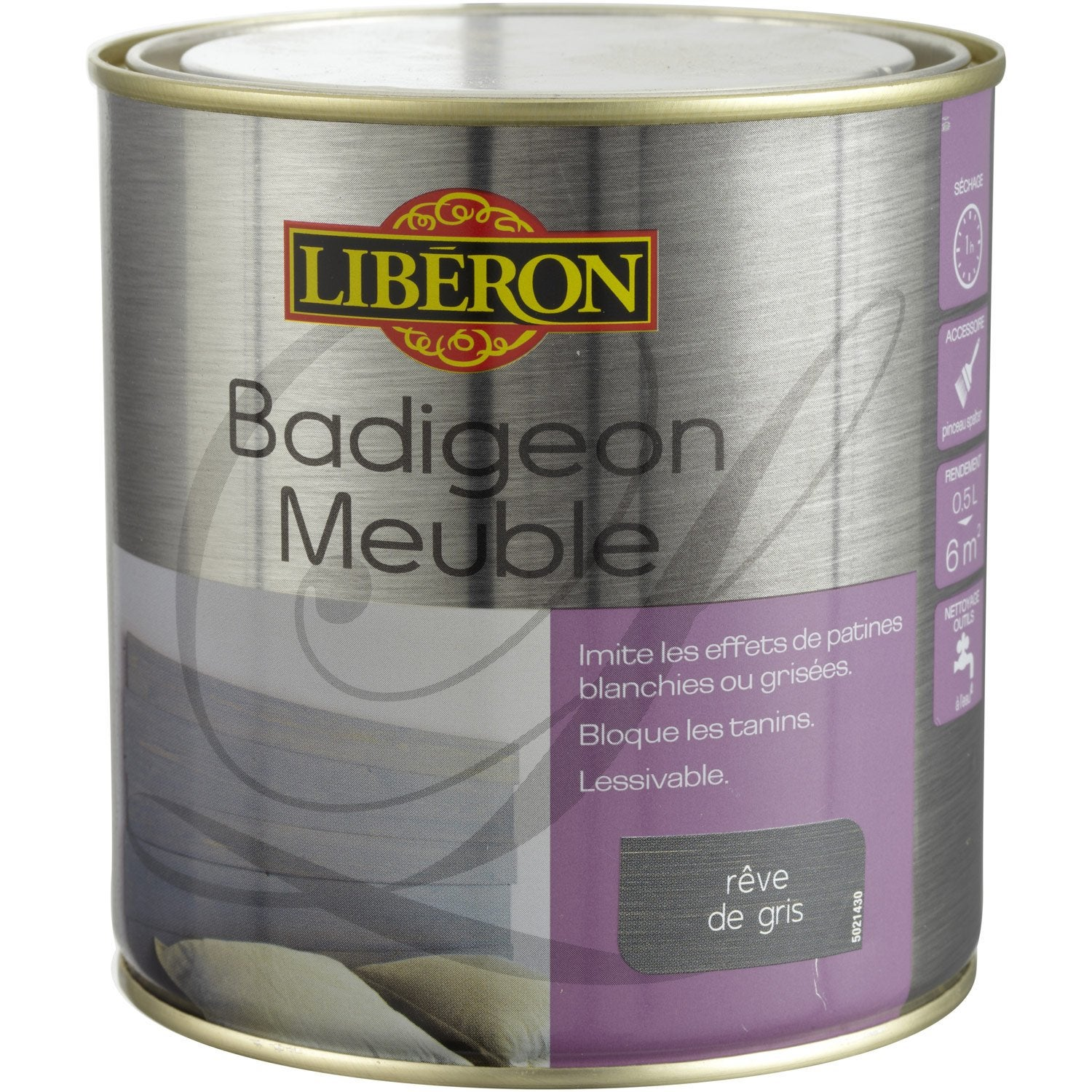 Lasure badigeon meuble liberon r ve de gris 0 5 l for Badigeon meuble liberon