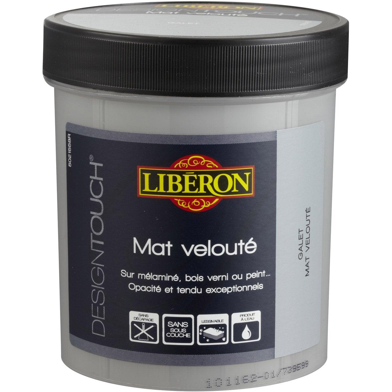 Peinture effet mat liberon design touch galet 0 5 l - Effet peinture bois ...