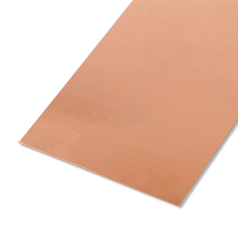 t le lisse en cuivre brut long 100 cm x larg 12 cm x p 0 5 mm leroy merlin. Black Bedroom Furniture Sets. Home Design Ideas