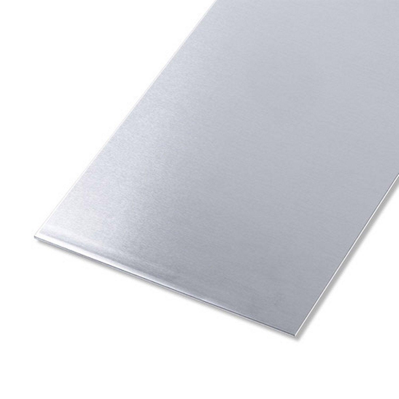 t le aluminium lisse brut gris x cm ep 1 5 mm leroy merlin. Black Bedroom Furniture Sets. Home Design Ideas