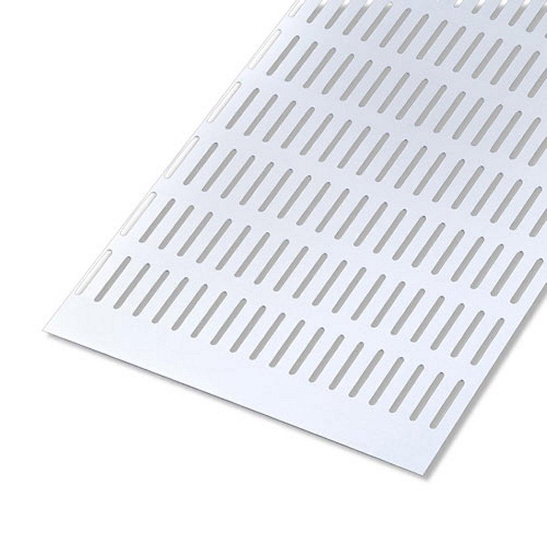 T le perfor en aluminium anodis long 100 cm x larg 12 - Tole aluminium leroy merlin ...
