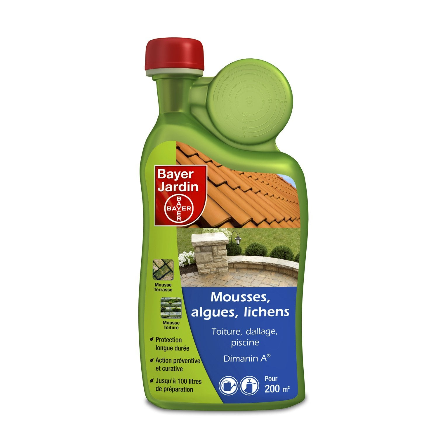 Antimousse s lectif bayer 1 l leroy merlin for Produit anti mousse