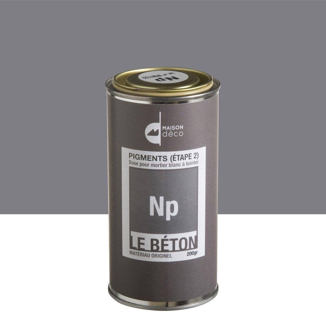 Peinture effet pigment le b ton maison deco np 0 2 kg leroy merlin for Peinture terrasse beton v