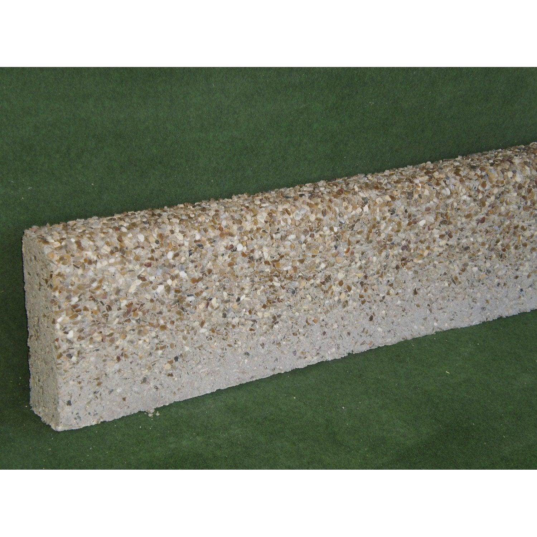 Bordure droite b ton ton pierre x cm leroy for Bordure de jardin special tondeuse