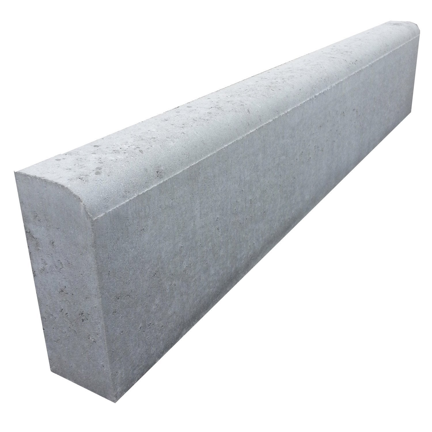 Bordure droite b ton gris x cm leroy merlin for Bordure jardin beton