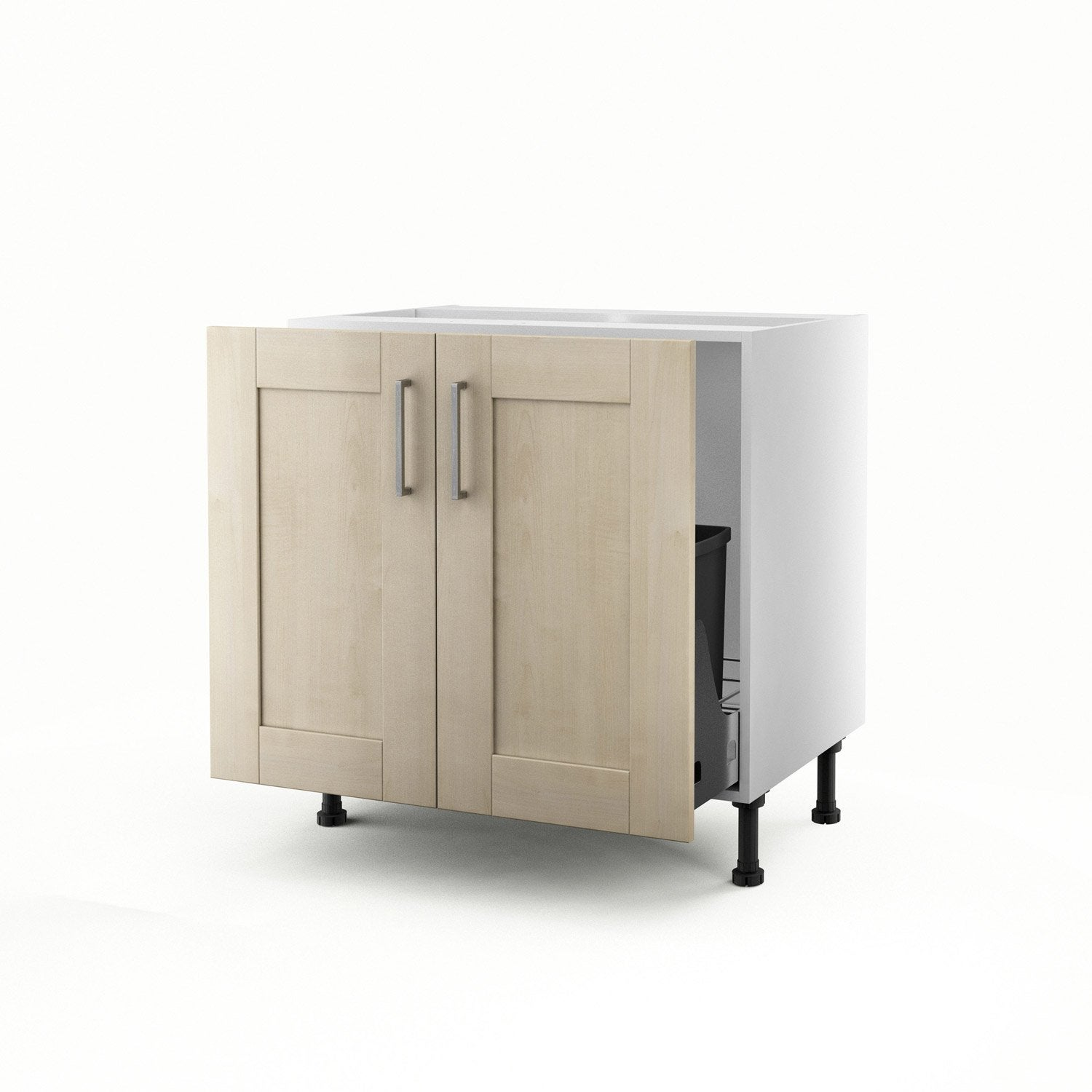 meuble de cuisine sous vier blanc 2 portes ines x l. Black Bedroom Furniture Sets. Home Design Ideas