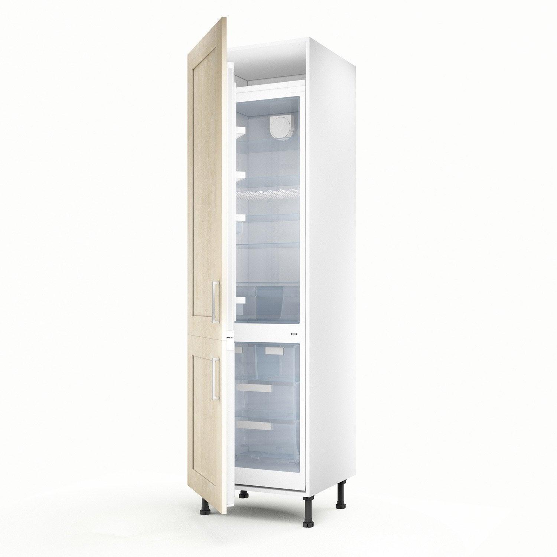 meuble de cuisine colonne blanc 2 portes ines x x cm leroy merlin. Black Bedroom Furniture Sets. Home Design Ideas