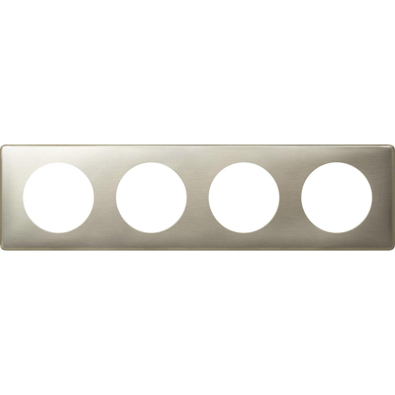 plaque quadruple c liane legrand titane leroy merlin. Black Bedroom Furniture Sets. Home Design Ideas
