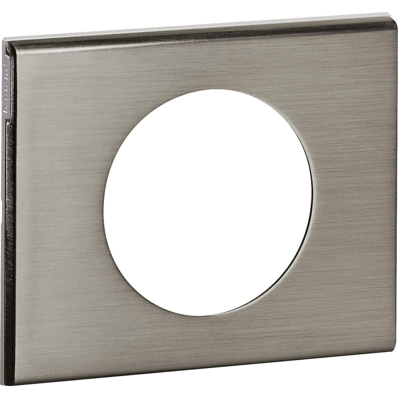 plaque simple c liane legrand inox bross leroy merlin. Black Bedroom Furniture Sets. Home Design Ideas