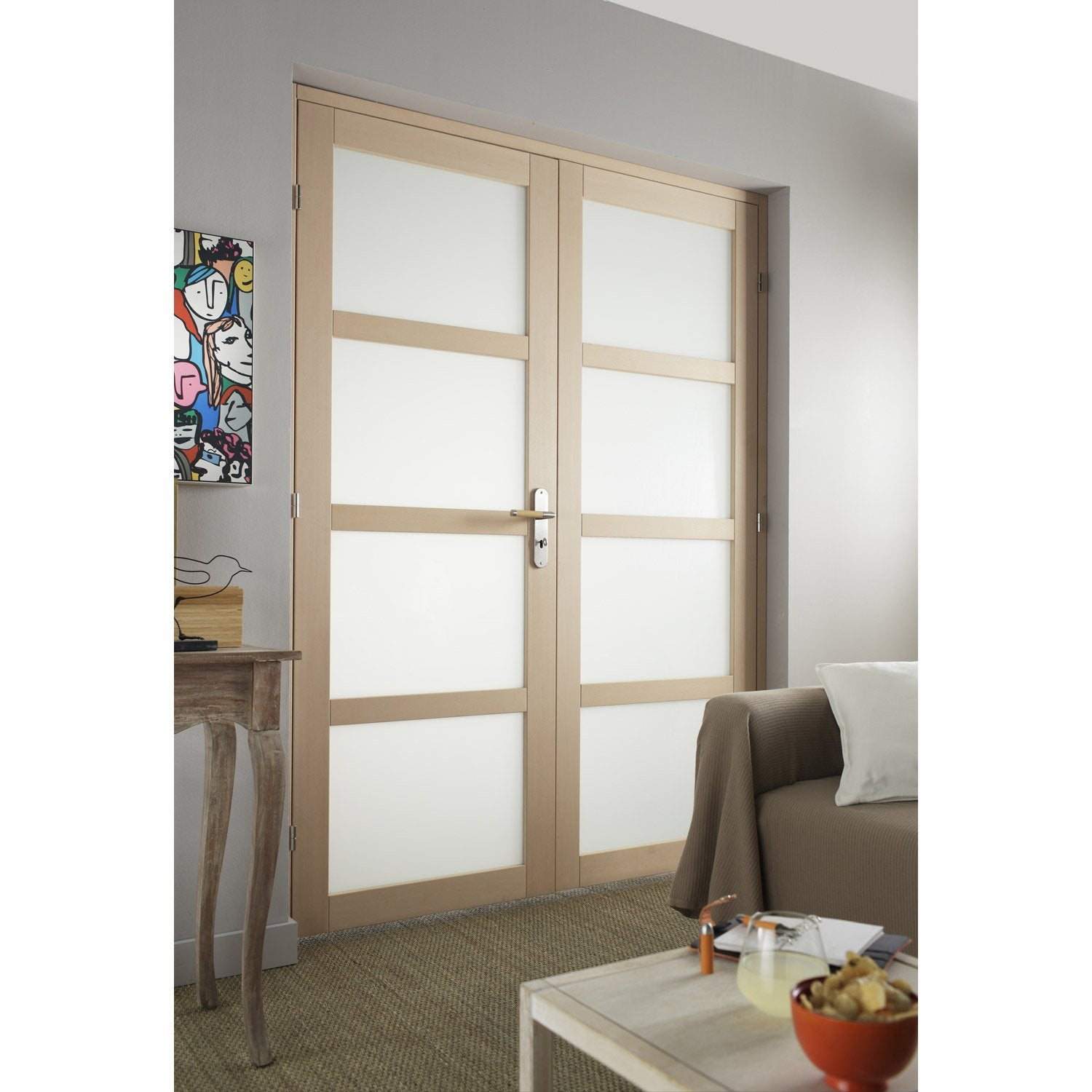 Porte accordeon interieur leroy merlin fashion designs Bloc double porte vitree interieure