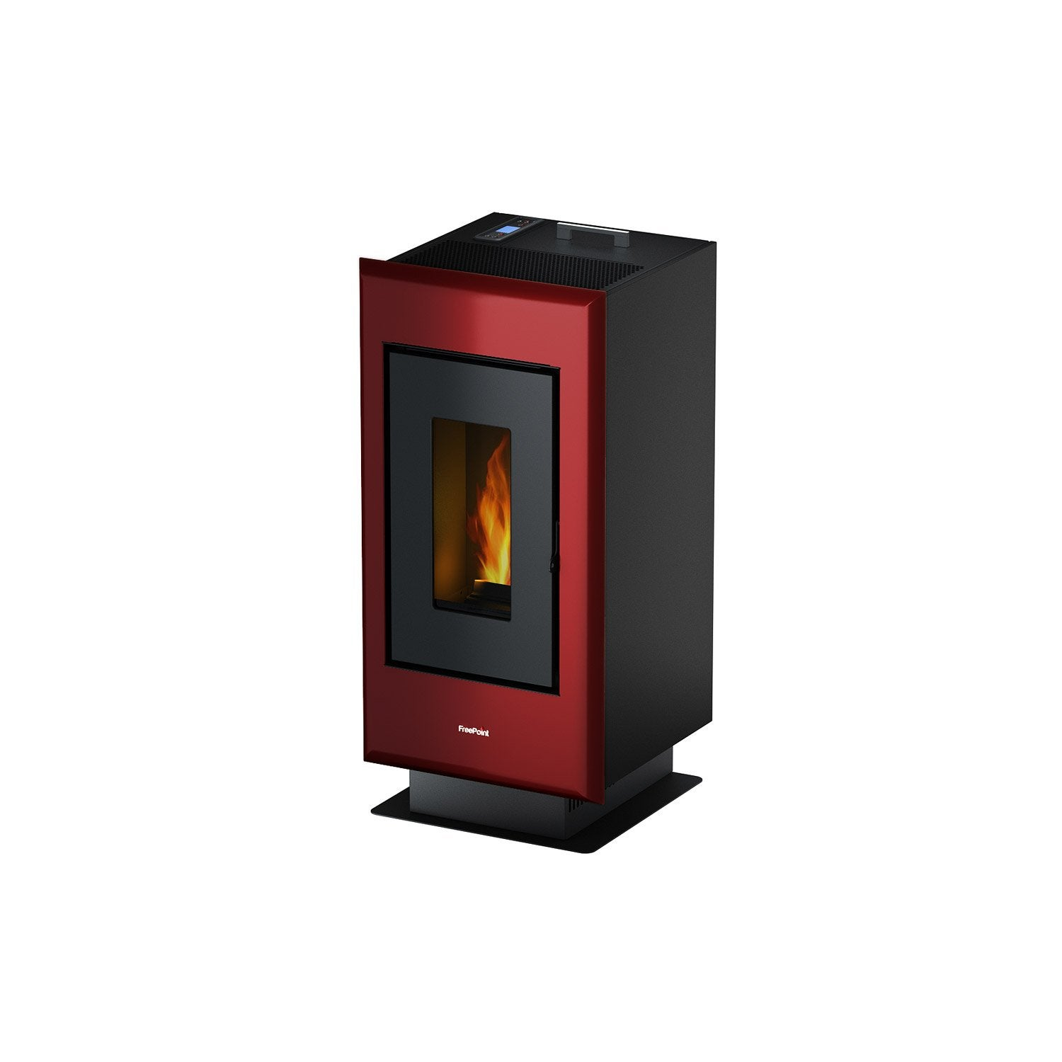 po le granul s freepoint poele a pellet elan evo bordeaux 6 5 kw leroy merlin. Black Bedroom Furniture Sets. Home Design Ideas
