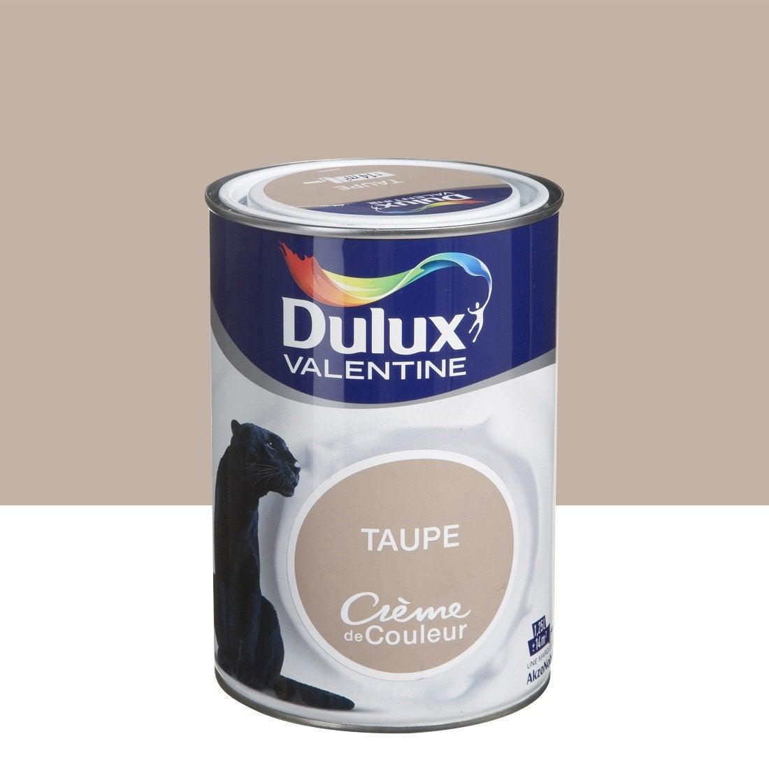 Peinture brun taupe dulux valentine cr me de couleur l leroy merlin for Peinture beige leroy merlin