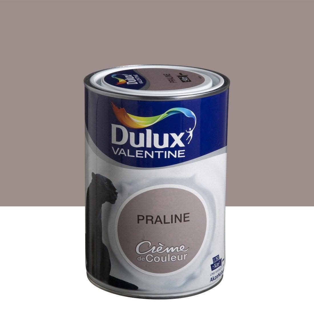 Peinture brun praline dulux valentine cr me de couleur 1 for Couleur marron glace peinture