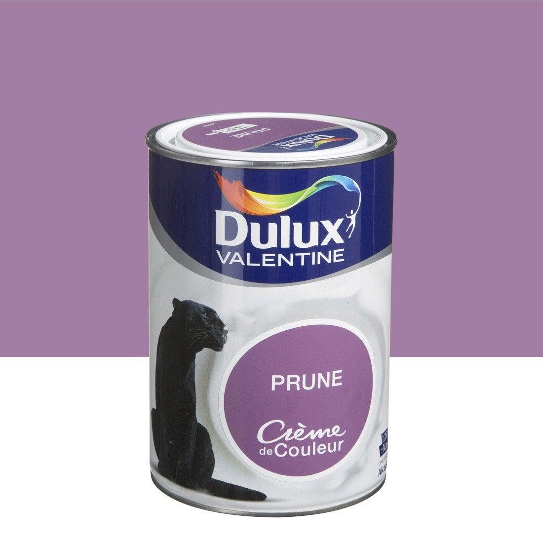 Peinture violet prune dulux valentine cr me de couleur l leroy merlin for Peinture salon maroc violet