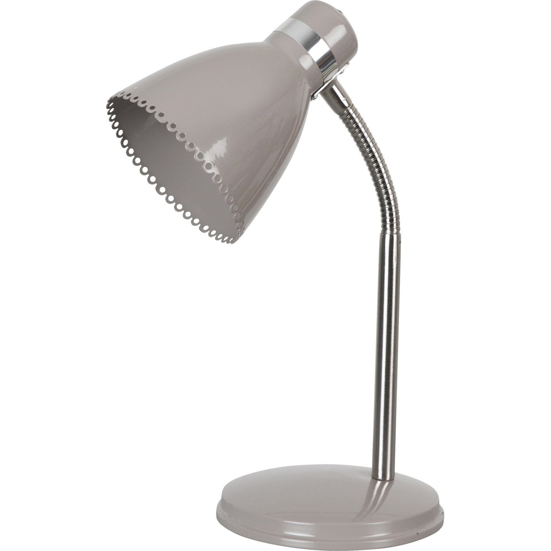 Lampe de bureau poser marron grazia leroy merlin - Leroy merlin lampe bureau ...