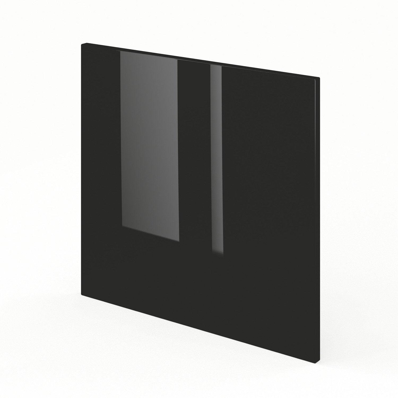 Porte pour lave vaisselle de cuisine noir rio x for Porte facade cuisine leroy merlin