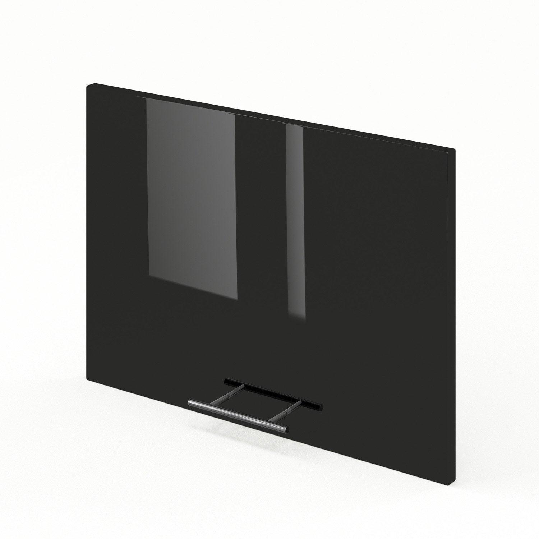 porte sur hotte de cuisine noir rio x cm leroy merlin. Black Bedroom Furniture Sets. Home Design Ideas