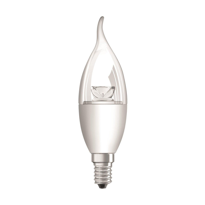ampoule flamme led 5 7w 470lm quiv 40w e14 compatible variateur 2700k osram leroy merlin. Black Bedroom Furniture Sets. Home Design Ideas