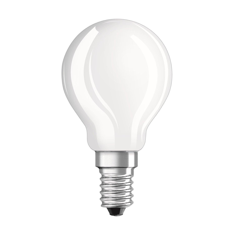 ampoule sph rique led 3w 250lm quiv 25w e14 2700k osram leroy merlin. Black Bedroom Furniture Sets. Home Design Ideas