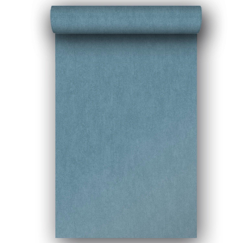 Papier peint intissé Messina bleu  Leroy Merlin