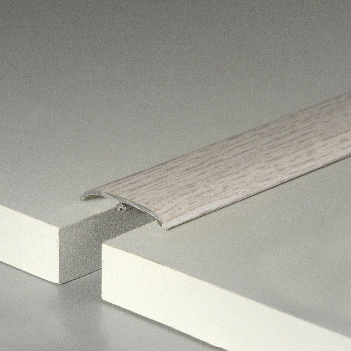 Barre de seuil effet ch taignier blanc pour sol stratifi for Barre de seuil carrelage