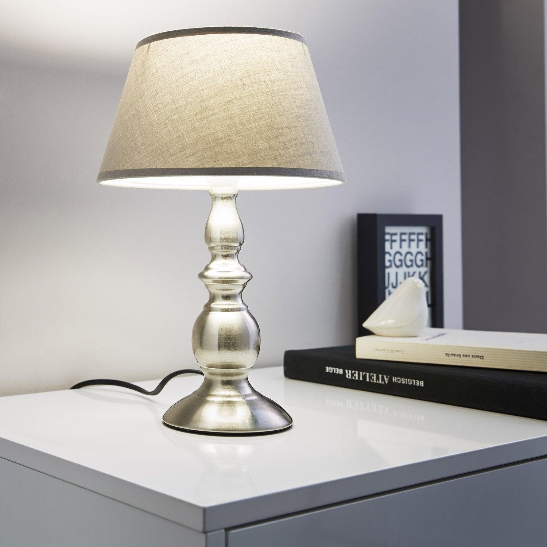 Pied de lampe valdepi m tal acier 25 cm inspire leroy - Potager sur pied leroy merlin ...